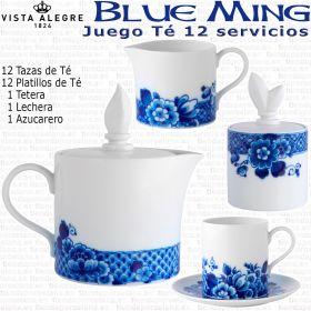 Juego Té 12 servicios (27 piezas) Vista Alegre BLUE MING