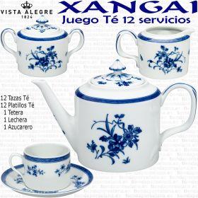 Juego Té 12 servicios 27 piezas Vista Alegre XANGAI