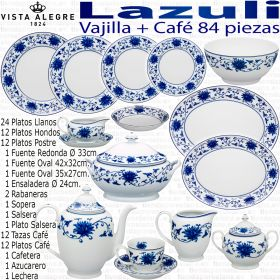 Lazuli Vista Alegre Vajilla con Juego Café completo