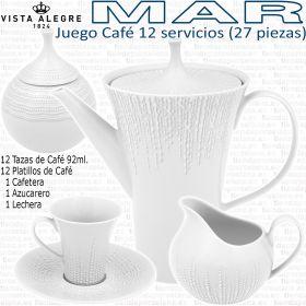 Juego Café 12 servicios (27 piezas) Vista Alegre colección MAR