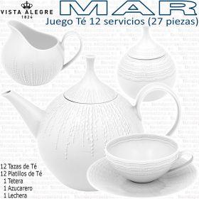 Juego Té 12 servicios (27 piezas) Vista Alegre colección MAR