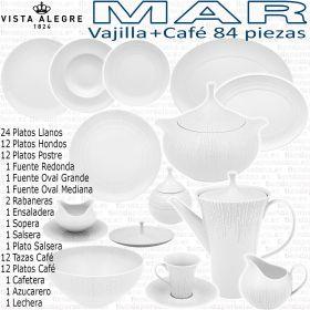 Vajilla + Juego Café 83/84 piezas Vista Alegre colección MAR