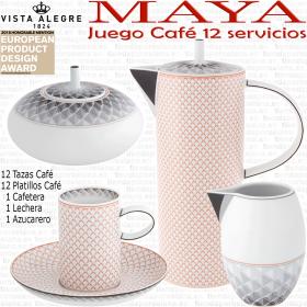 Juego Café 12 servicios (27 piezas) Vista Alegre MAYA