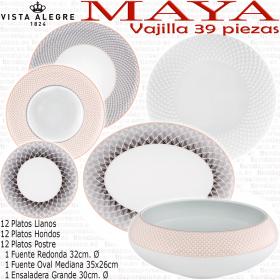 Vajilla MAYA Vista Alegre 39 piezas