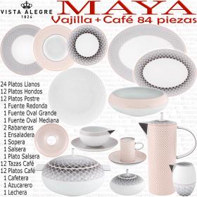 Vajilla + Café moderno 84 piezas Vista Alegre MAYA