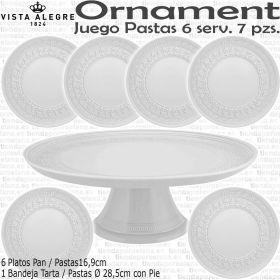 ORNAMENT Juego de Psstas 6 servicios 7 piezas Vista Alegre Porcelana
