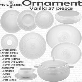 Ornament Vista Alegre Vajilla completa 56 57 piezas 12 servicios de mesa
