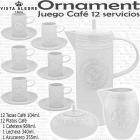 ORNAMENT Juego Café completo Vista Alegre Porcelana