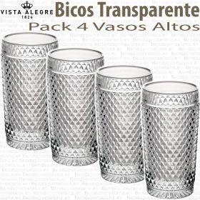 Vasos Altos Bicos - Picos Transparente Vista Alegre
