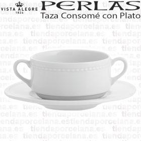 taza consome con plato perlas vista alegre menaje hogar hosteleria reforzada servicio consome