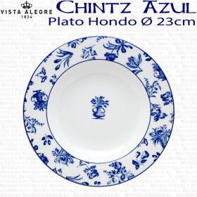 Plato Hondo 23cm Ø Flores Vista Alegre CHINTZ AZUL