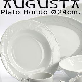 Plato Hondo Augusta 24cm porcelana blanca Santa Clara Pontesa