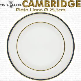 Vista Alegre Cambridge Plato Llano 25,3cm Ø piezas sueltas vajilla