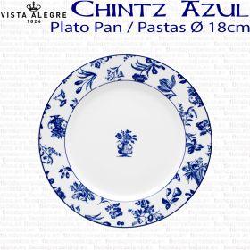 Plato Pan/Pastas 18cm Ø Flores Vista Alegre CHINTZ AZUL