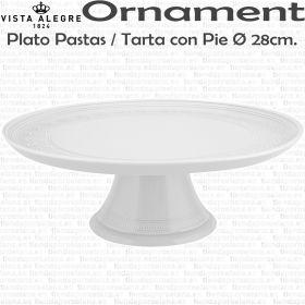 Bandeja de Tarta Pastas con Pie Vista Alegre Ornaments