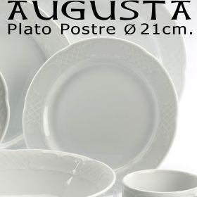 Plato Postre 21 cm. Augusta Pontesa - Platos Postre Porcelana