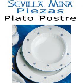 Plato Postre 21cm. Santa Clara Sevilla Mina