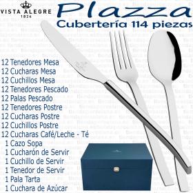 Cuberteria Plazza Vista Alegre 114 piezas