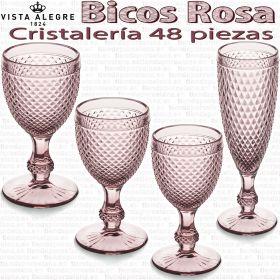 Cristalería 48 copas Vista Alegre Bicos / Picos ROSA