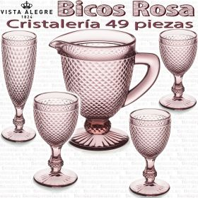 Bicos AMBAR Vista Alegre Cristalería + Jarra Agua 49 piezas