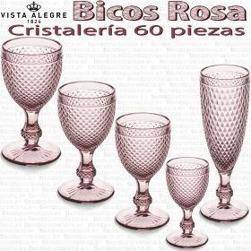 Cristalería 60 copas Vista Alegre Bicos / Picos ROSA
