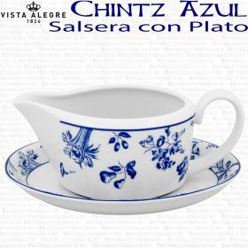 Chintz Azul Vista Alegre Salsera con Plato