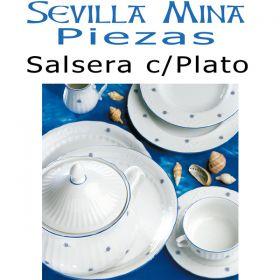 Salsera con Plato Santa Clara Sevilla Mina
