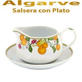 Salsera con Plato Vista Alegre ALGARVE