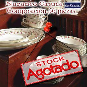 Vajilla San Claudio Naranco Grana 56 piezas stock agotado