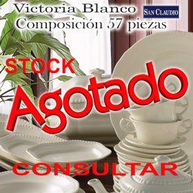Vajilla San Claudio Victoria Blanco 57 piezas Stock Agotado