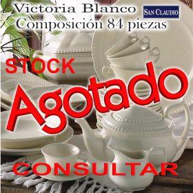 Vajilla con Juego de Café San Claudio Victoria Blanco stock agotado