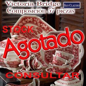 Vajilla San Claudio Victoria Bridge 57 piezas stock agotado