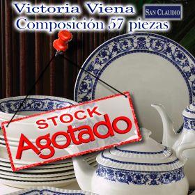 Vajilla lozas San Claudio Victoria Viena decoración en Azul Cobalto
