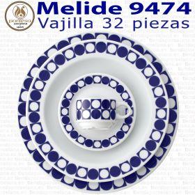 Vajilla + Café 32 piezas Pontesa / Santa Clara Melide 9474