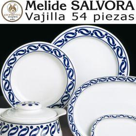 Vajilla 54 piezas Pontesa/Santa Clara Melide Sálvora Azul Cobalto