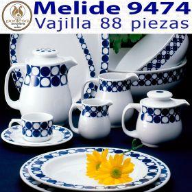 Vajilla + Café + Té + Desayuno 88 piezas Pontesa / Santa Clara Melide 9474