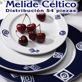 Vajilla 54 piezas Pontesa/Santa Clara Melide Céltico Azul Cobalto