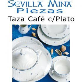 Taza Café con Plato Santa Clara Sevilla Mina
