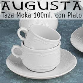 Tazas Café solo - Moka 100ml con Plato Augusta Santa Clara