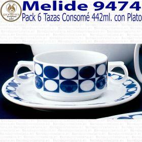 Taza Consomé con Plato Melide 9474