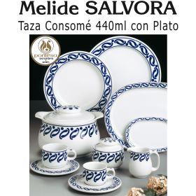 Taza Consomé con Plato Melide SALVORA Pontesa / Santa Clara