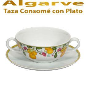 Taza Consomé con Plato Vista Alegre Algarve