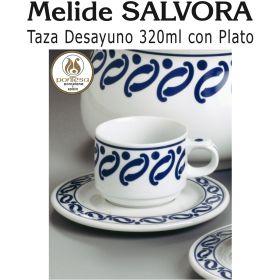 Tazas Desayuno 320ml con Plato Melide SALVORA Pontesa / Santa Clara