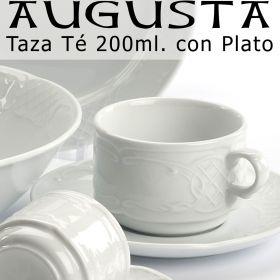 Tazas Té 200ml con Plato Augusta Santa Clara