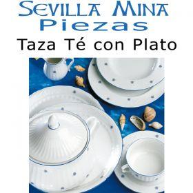 Taza Té con Plato Santa Clara Sevilla Mina