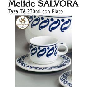 Tazas Té 230ml con Plato Melide SALVORA Pontesa / Santa Clara