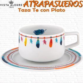 Tazas Te con Plato Vista Alegre Atrapasueños diseño Pineda Covalin