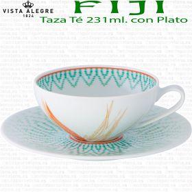 Tazas Té con Plato FIJI Vista Alegre