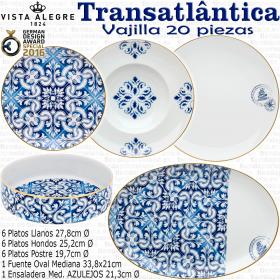 TRASATLANTICA Vajilla Vista Alegre 20 piezas