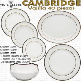 Vajilla Cambridge 40 piezas Vista Alegre